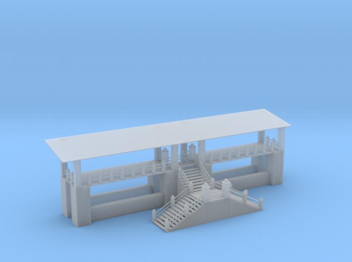 Mono Rail Station Z Scale 3d printed Mono Rail Station Z scale
