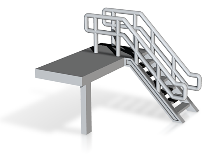 N Scale Platform End Stairs 3d printed