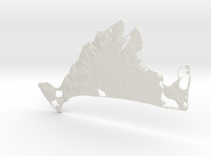 Martha's Vineyard, MA, USA, 1:100000, 13'' 3d printed