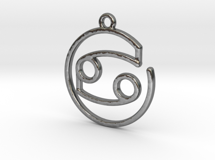 Cancer Zodiac Pendant 3d printed