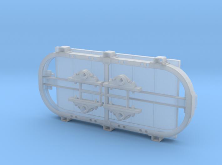 1:32 Hudson Bow Frame Stake Car w/Deck 3d printed