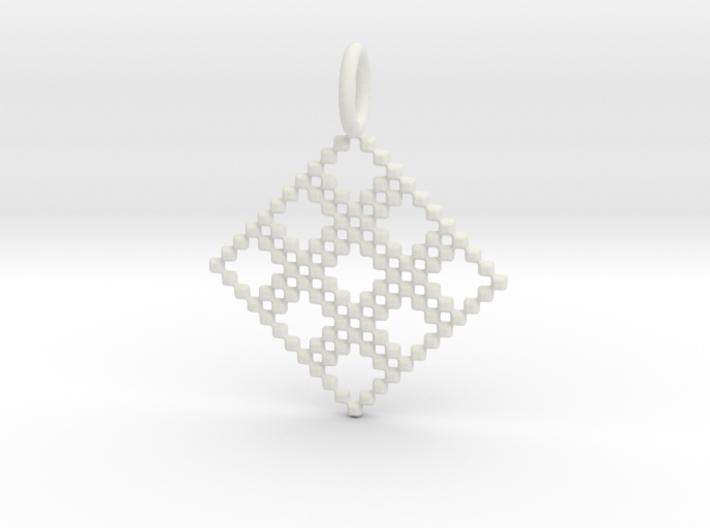 Pendant Square No.4 3d printed