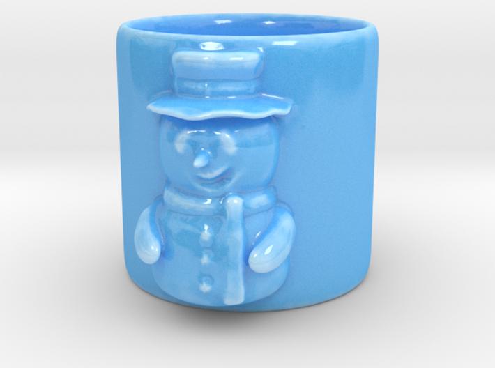 Snow man Coffee Mug 3d printed