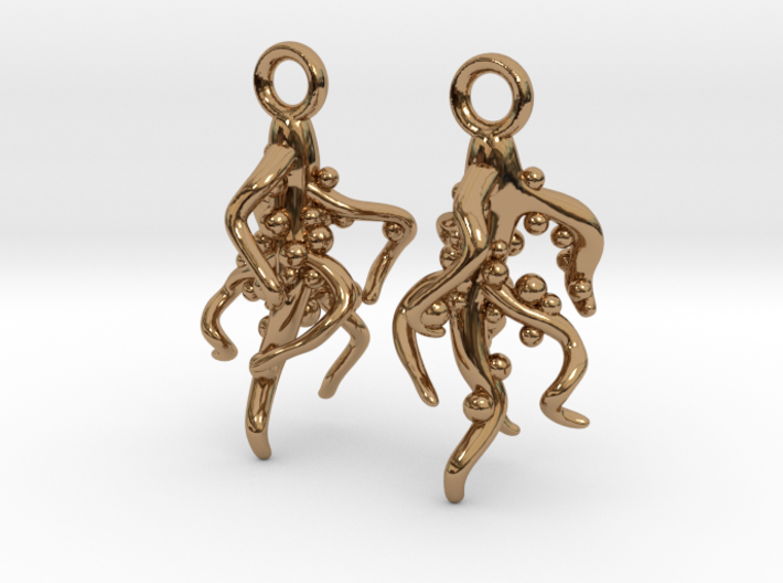 Nodulated Root Earrings - Science Jewelry 3d printed