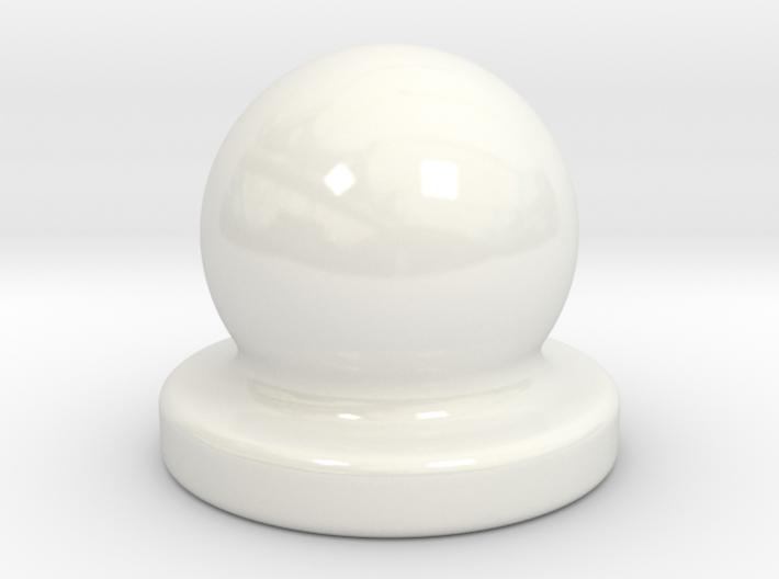 Porcelain Door Nob Plug 3d printed
