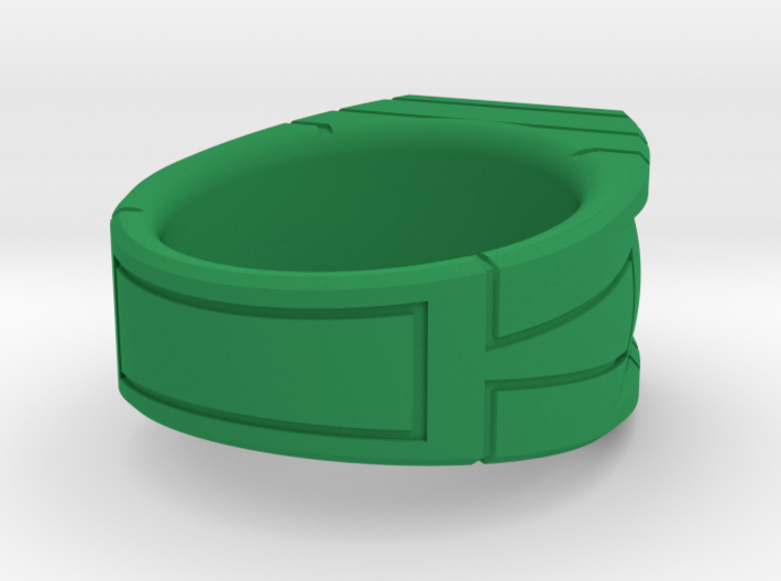Size 10 Green Lantern Ring 3d printed