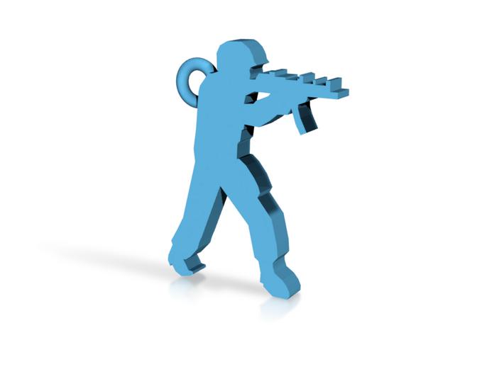 CS Logo Keychain 3d printed