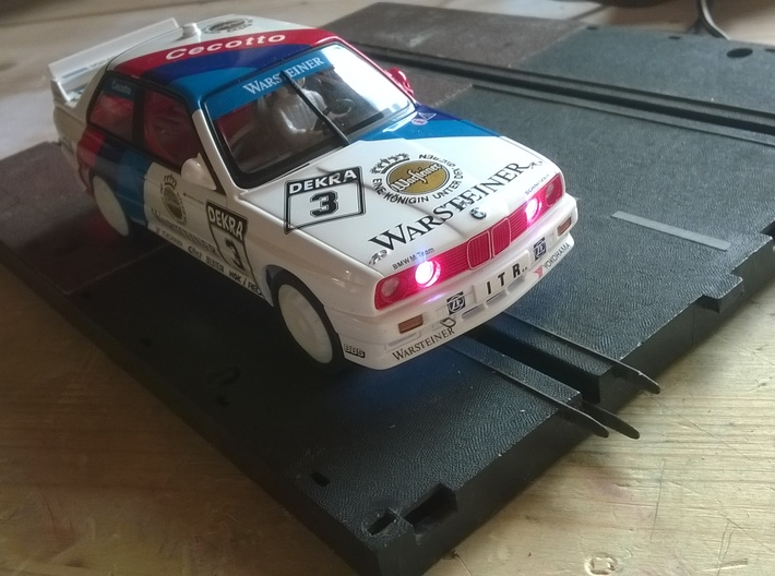 Chassis for Carrera Universal 132 BMW E30 Autoart 3d printed
