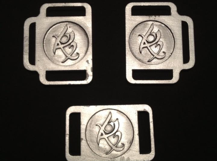 TMI Fearless Rune Buckle 3d printed After Painting