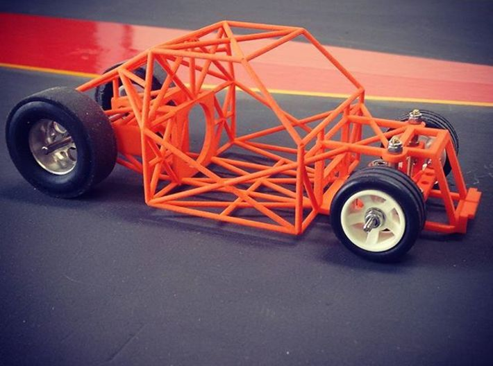 MagDragster™ R/C - V1 Chassis - [Golf Mk1] 3d printed