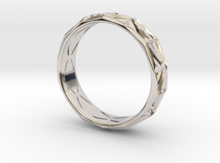 Cut Facets Ring Sz. 6.5 3d printed