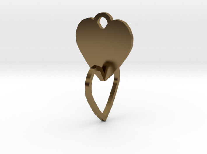 heart of the ring to connect with heart 3d printed