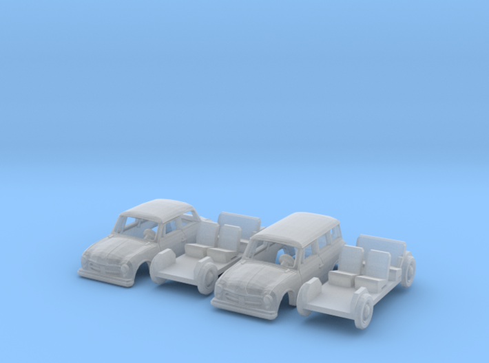 SET 2x AWZ P70 Zwickau (TT 1:120) 3d printed