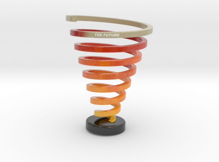 Ross Spiral 17.4cm tall with Future + text 3d printed