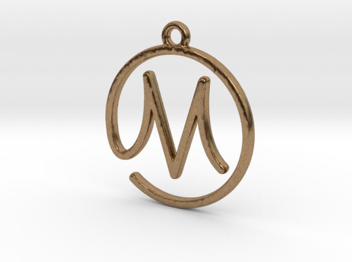M Script Monogram Pendant 3d printed