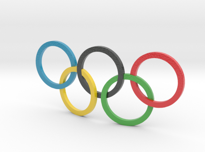 Colored Olympic Symbol 3d printed