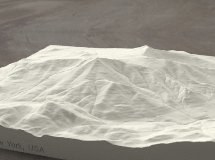 8'' Whiteface Mtn., New York, USA, Sandstone 3d printed Radiance rendering of model, viewed from the SSE