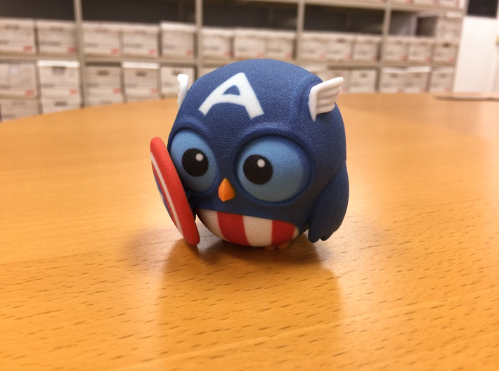 Captain Owl 3d printed