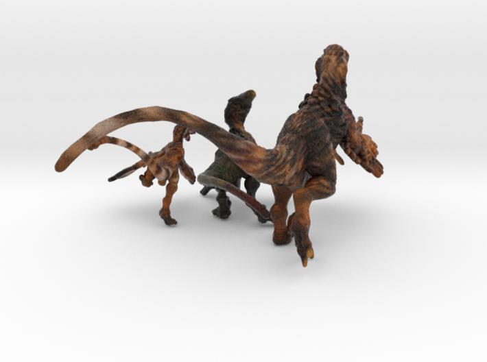 Raptor Statues 3d printed Sandstone color raptors by RareBreed ©2012-2016