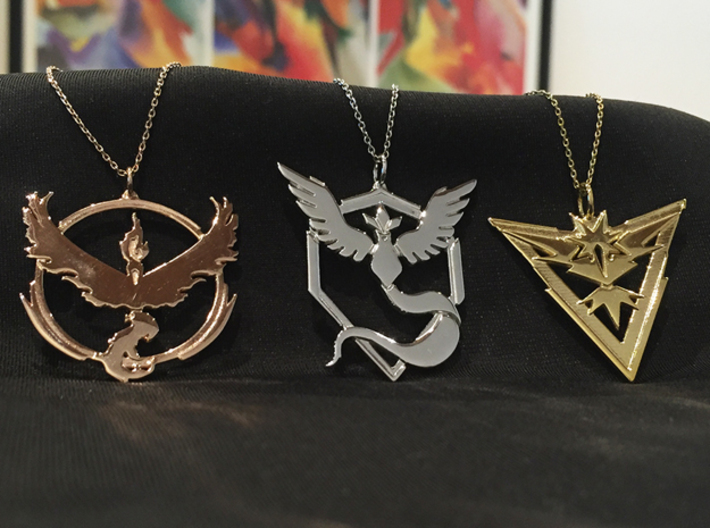 Team Mystic Pendant - Pokemon Go - Articuno 3d printed Middle pendant - chain not included