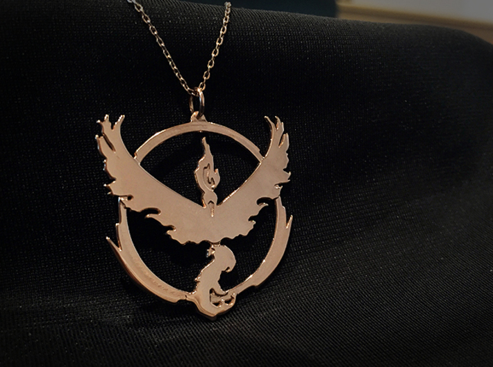 Team Valor Pendant - Pokemon Go - Moltres 3d printed Chain not included