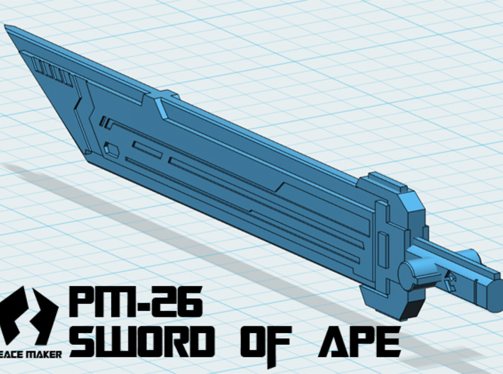 PM-26 SWORD OF APE 3d printed