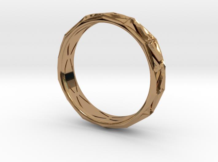 Cut Facets Ring Sz. 9.5 3d printed