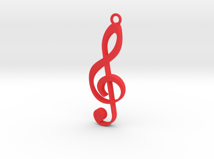 music note pendant/keyring 3d printed