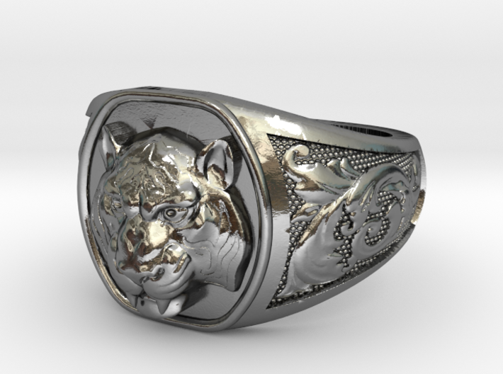 Tiger Ring #3 Size 9 3d printed