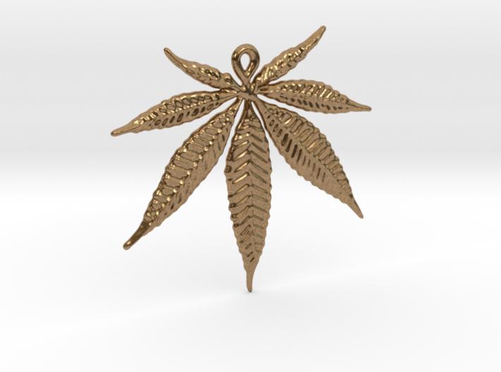 Marijuana leaf pendant 3d printed