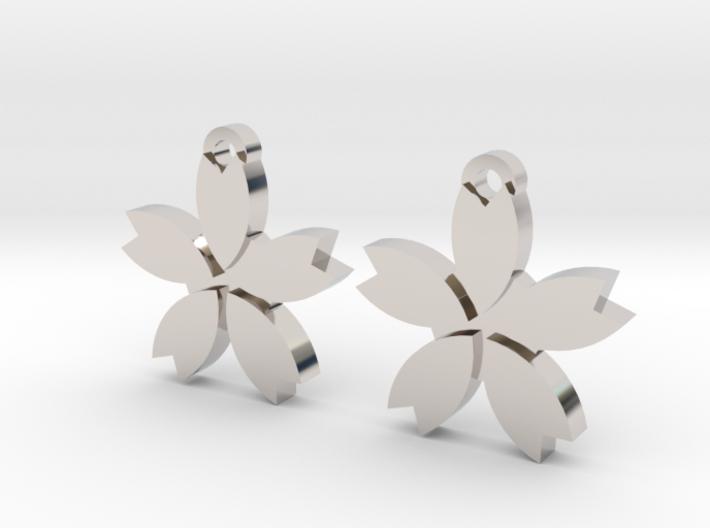 Sakura (Cherry Blossom) Flower Earrings 3d printed