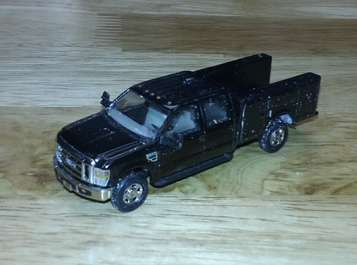 Utility Pick Up Truck Bed 1-87 HO Scale 3d printed