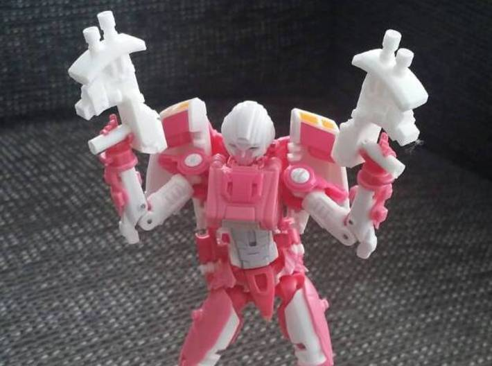 """""""MICRON"""" Transformers Weapons Set (5mm post) 3d printed Image by Remko. Weapon post modded to fit with MMC Azalea."""