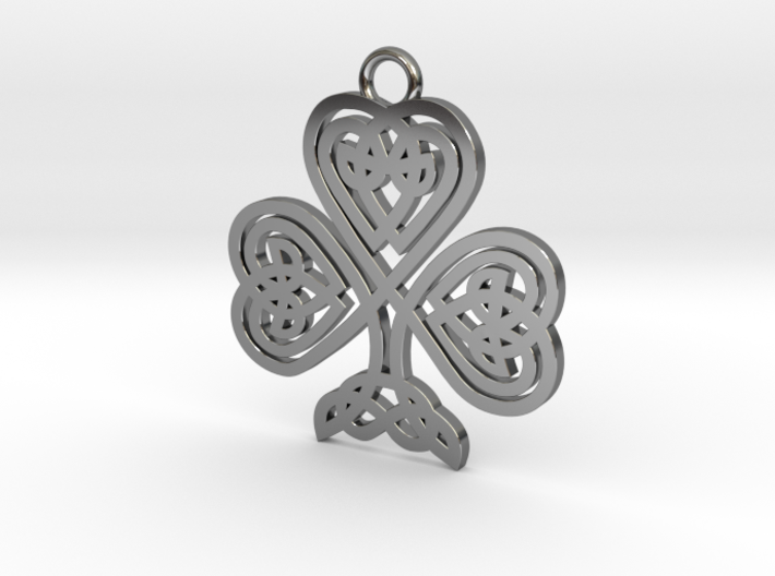 Celtic Clover Cross 3d printed