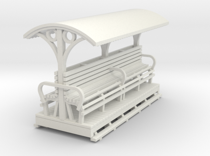 55n9 Longitudinal seat open coach long 3d printed