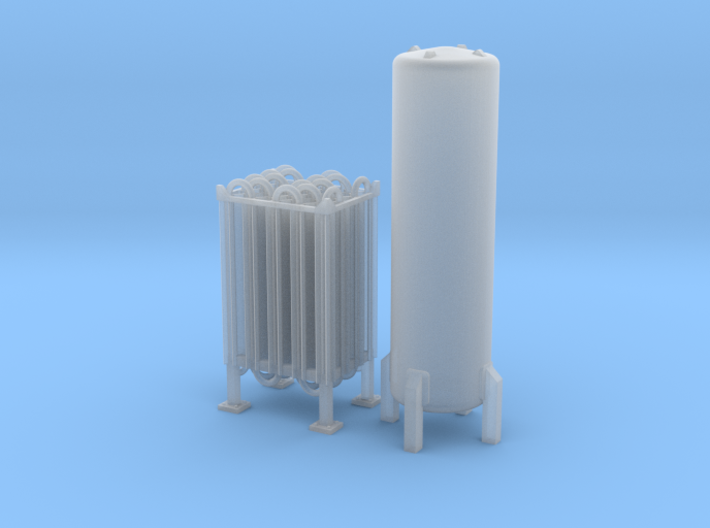 N Scale Cryogenic Vaporizer + Tank 38mm 3d printed