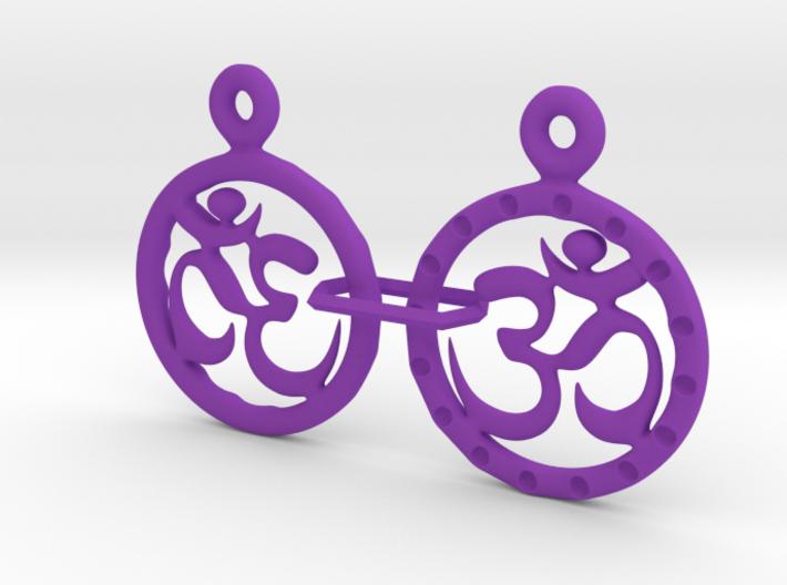 Om EarRings - Pair - Plastic 3d printed