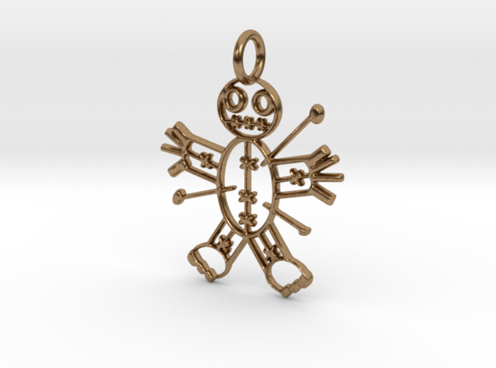Voodoo Doll of Halloween Pendant 3d printed Voodoo Doll of Halloween Pendant (Different materials have different prices)