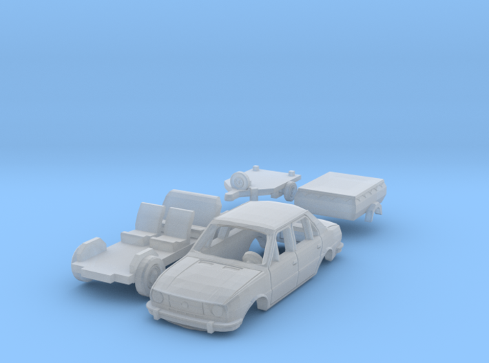 SET Skoda 105 L + HP 350.01 (TT 1:120) 3d printed