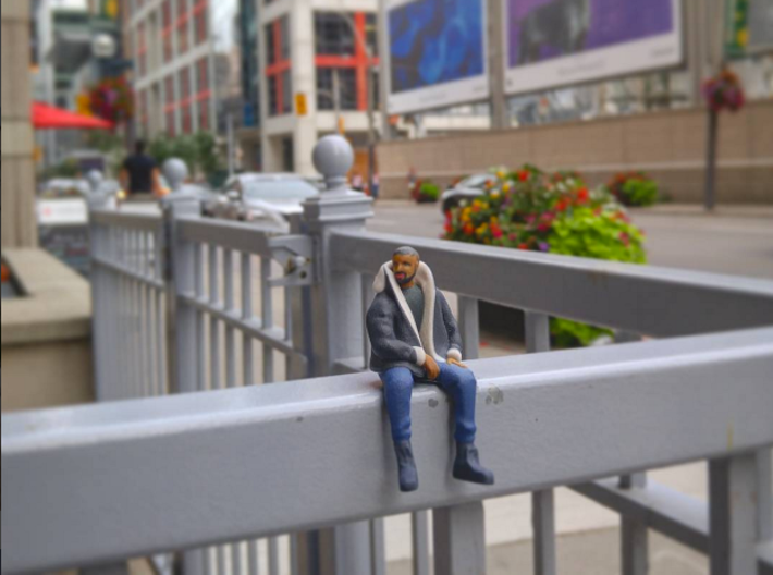 Drake | Tiny Views 3d printed Tiny Drizzy takes in #Views all over The 6ix