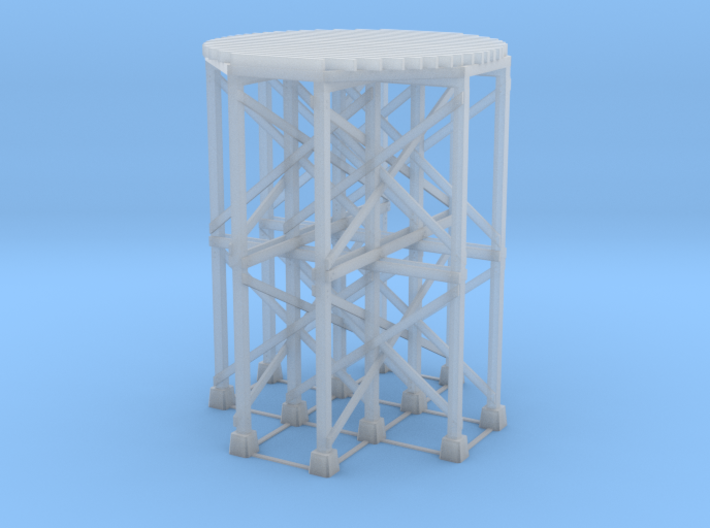 HO-Scale SP Wooden Water Tower Base (Tall) 3d printed