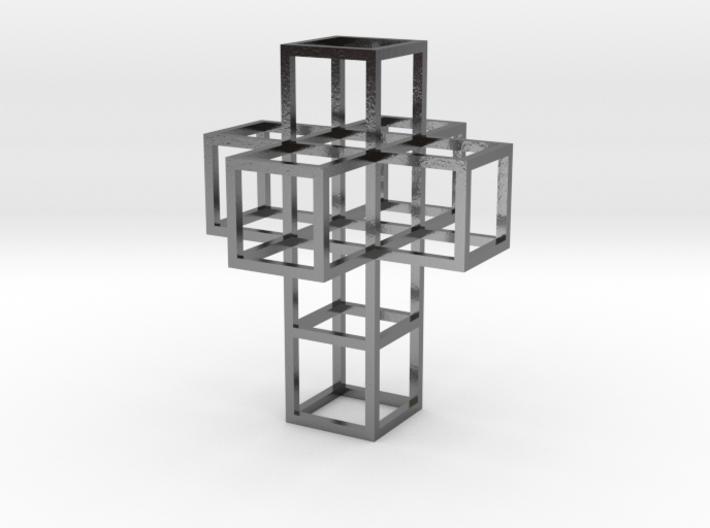 Cubic Tesseract Pendant 3d printed