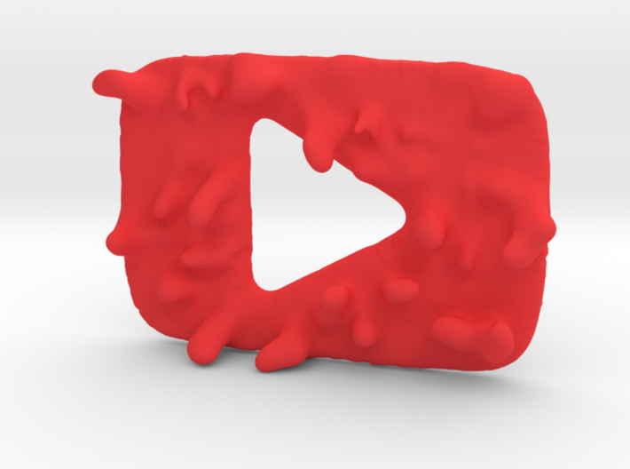 Distorted YouTube Play Button Award 3d printed