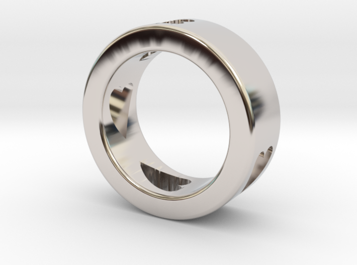 LOVE RING Size-7 3d printed