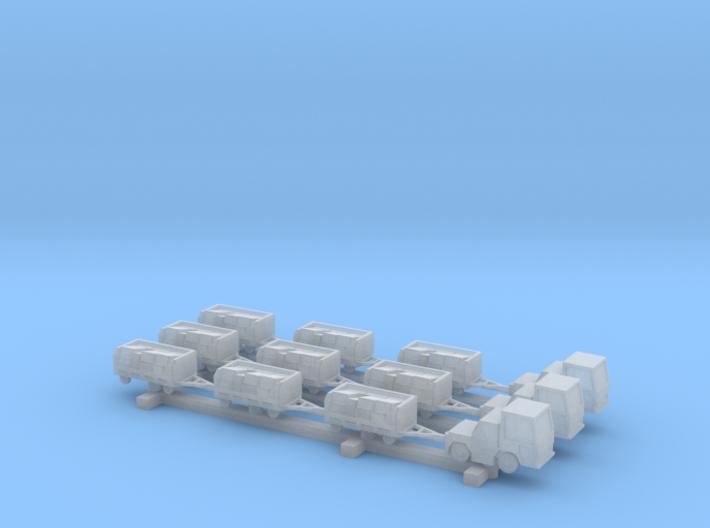 1:400 3x Baggage Train 3d printed