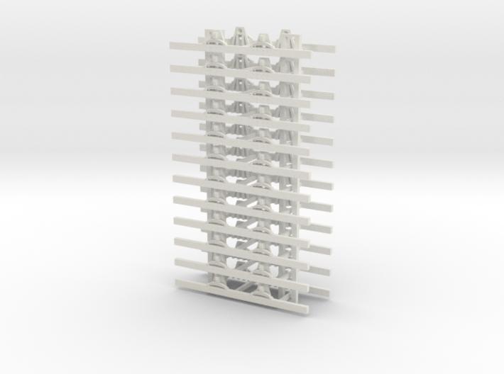OO9 Underframe 4ft wb x12 3d printed