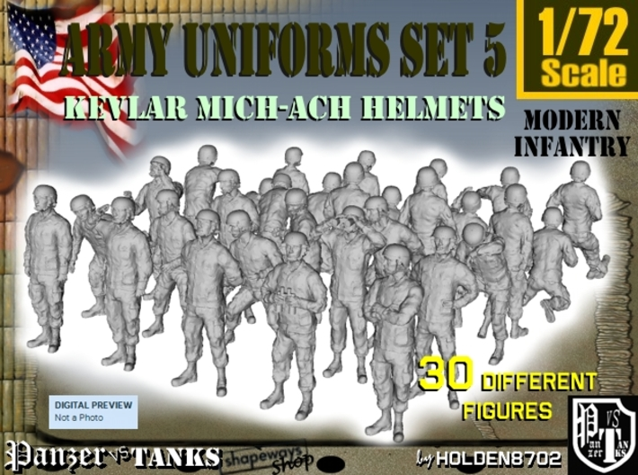 1-72 Army Modern Uniforms Set5 3d printed