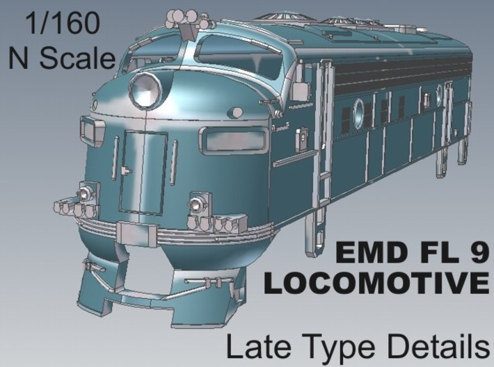 1-160 EMD FL 9 LATE Locomotive 3d printed