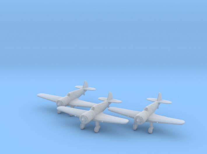 Curtiss 75N 'Hawk' 1:200 x3 FUD 3d printed