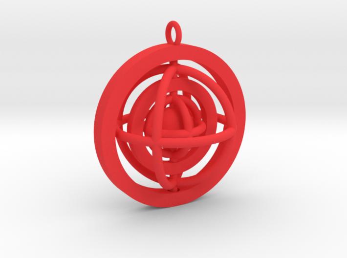 Rotating planet 3d printed
